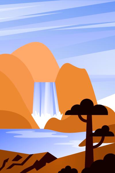 Landscape Vector Pack - Scene 15