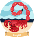 Rounded Zodiac Signs Illustrations - Scene 18